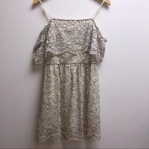 Francesca's medium lace, cold shoulder dress